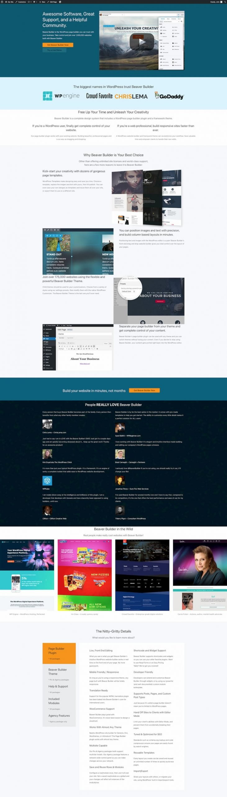 Transformation to Gutenberg visualized in the Astra WordPress theme.