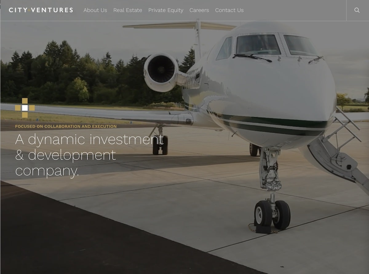 Captura de pantalla de la web de City Ventures