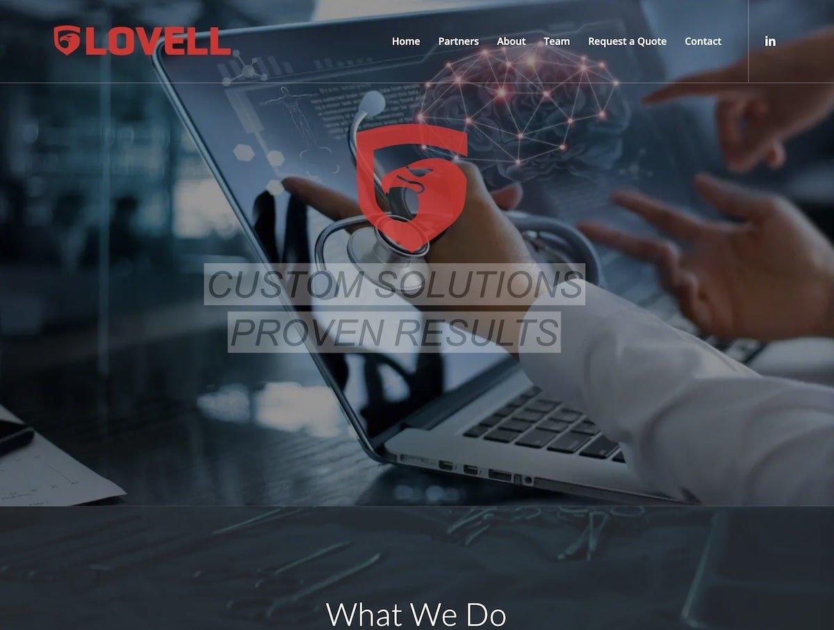 Captura de pantalla de la web de Lovell.