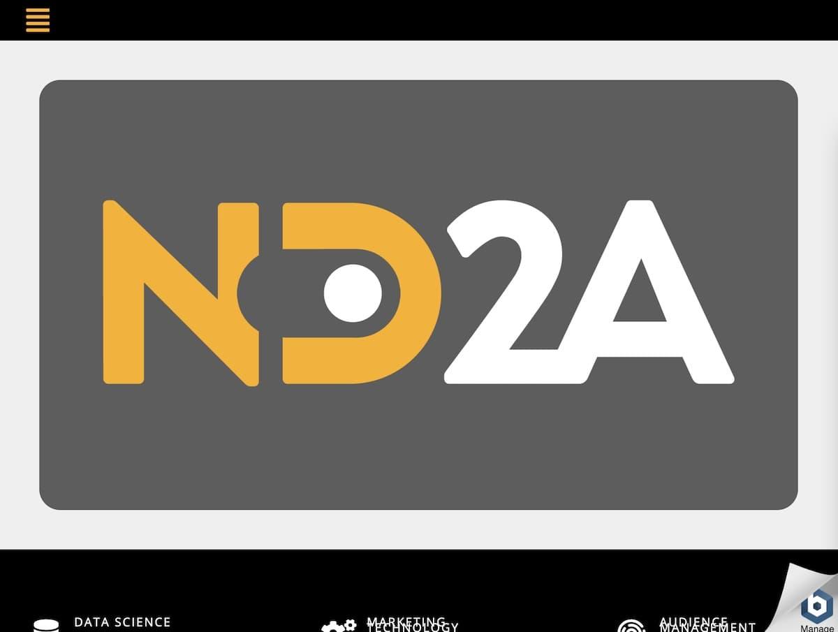 Captura de pantalla de la web de ND2A.