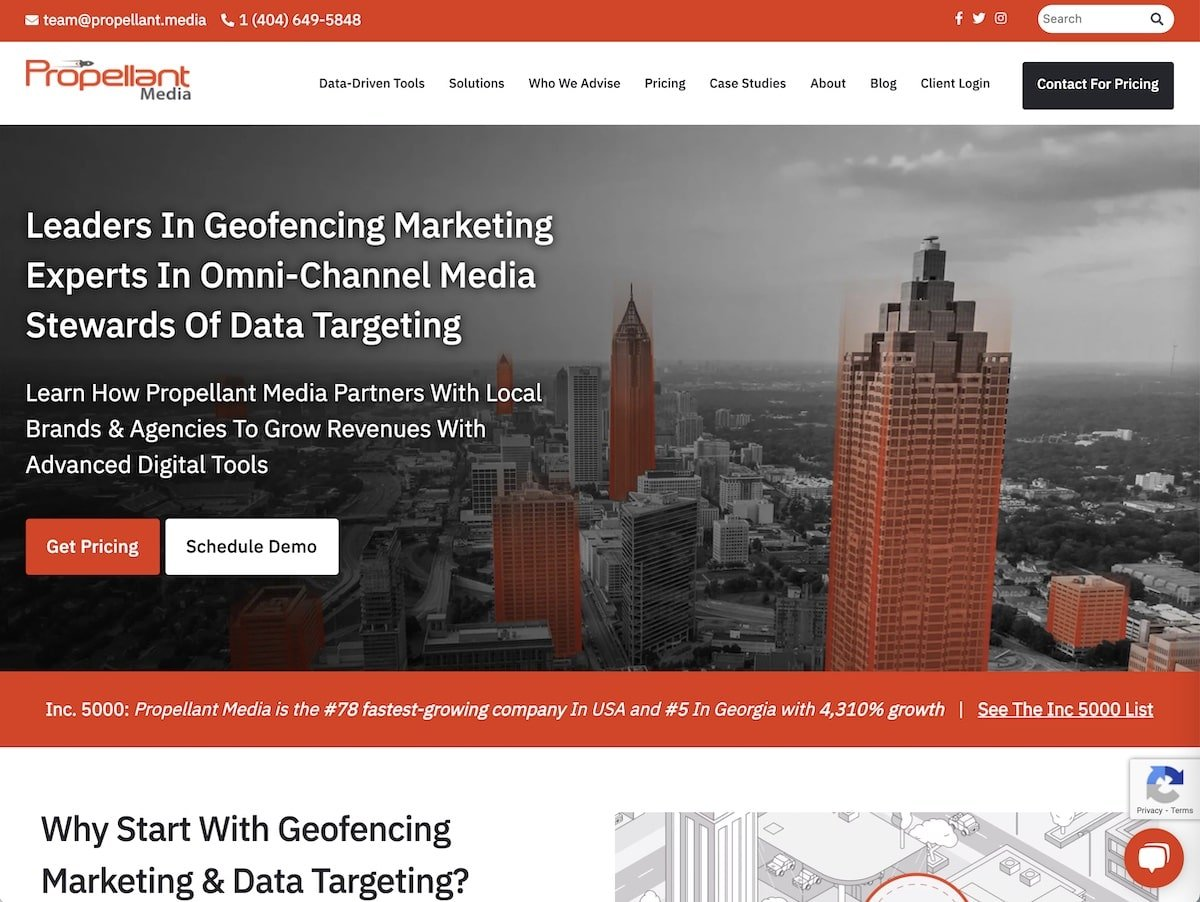 Captura de pantalla de la web de Propellant.