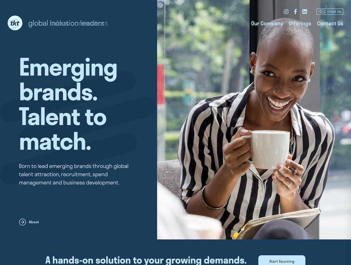 Captura de pantalla de la web de TKT.