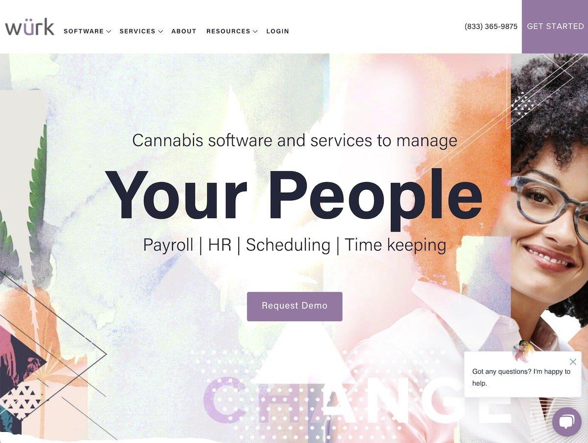 Captura de pantalla de la web de würk.