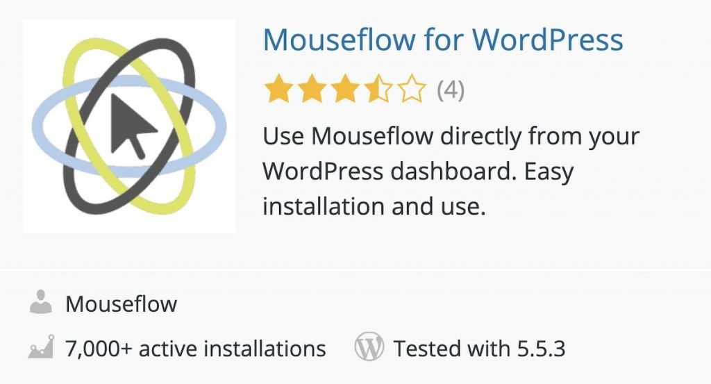 Plugin Mouseflow for WordPress en el directorio de WordPress