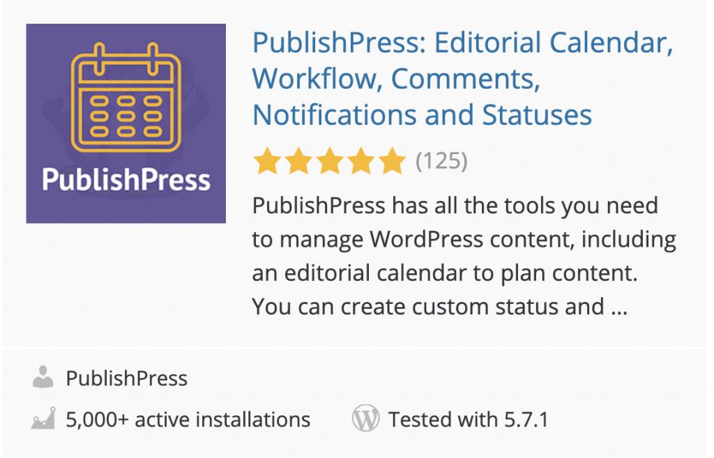 Screenshot of the Publipress plugin in the WordPress plugin directory