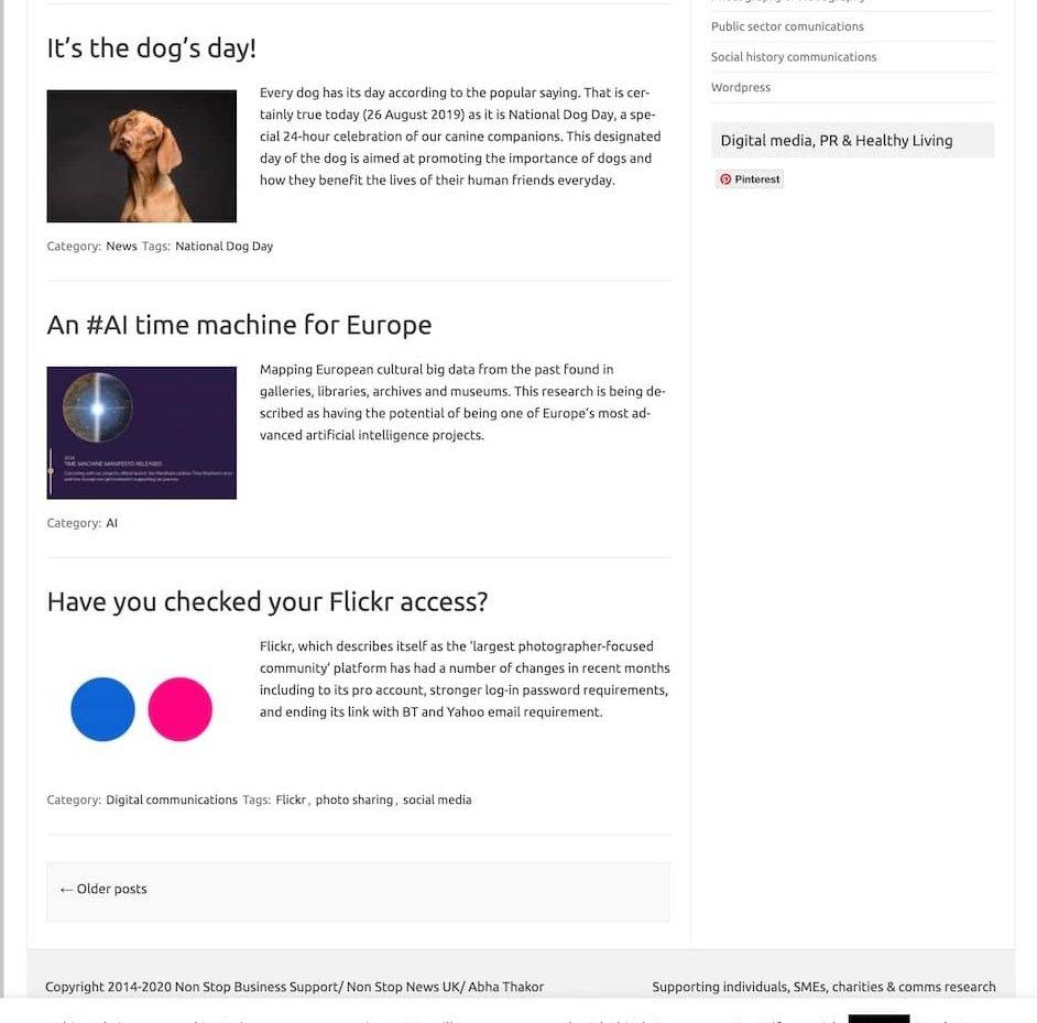 Screenshot 3 of Abha Thakor's website