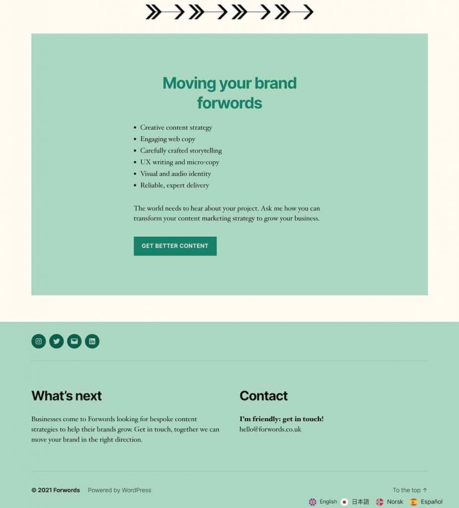 Partial screenshot 4 of the ForWords website