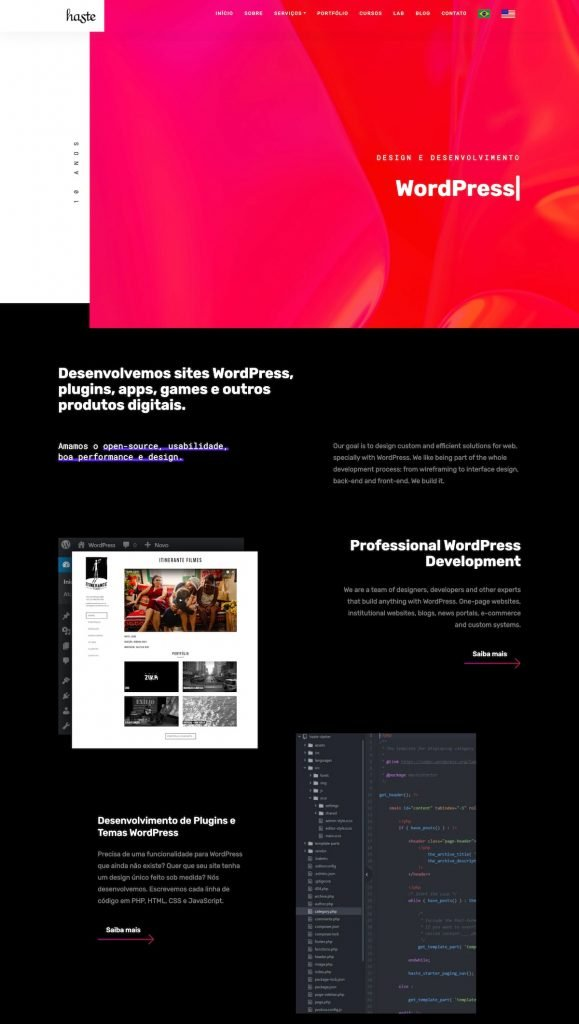 Partial screenshot 1 of the Haste Design website