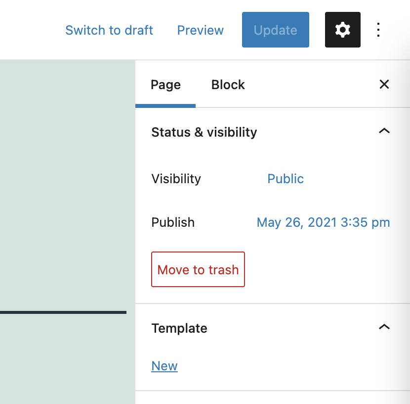 New option to create templates in WordPress 5.8