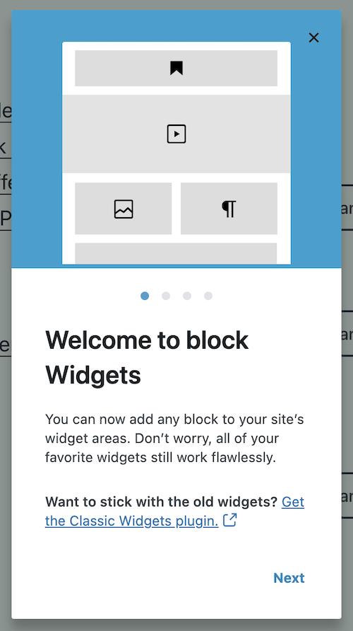 Welcome to the widget block editor
