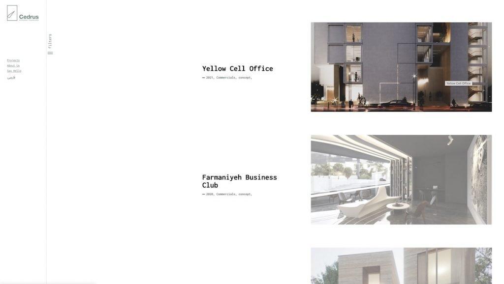 Captura de pantalla de la web Cedrus