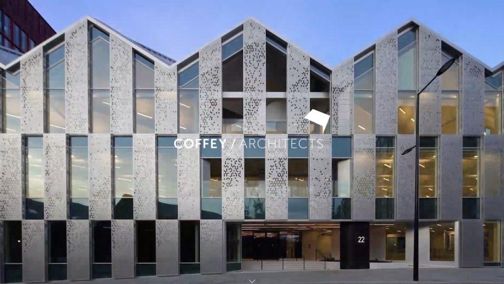 Captura de pantalla de la web Coffey Architects