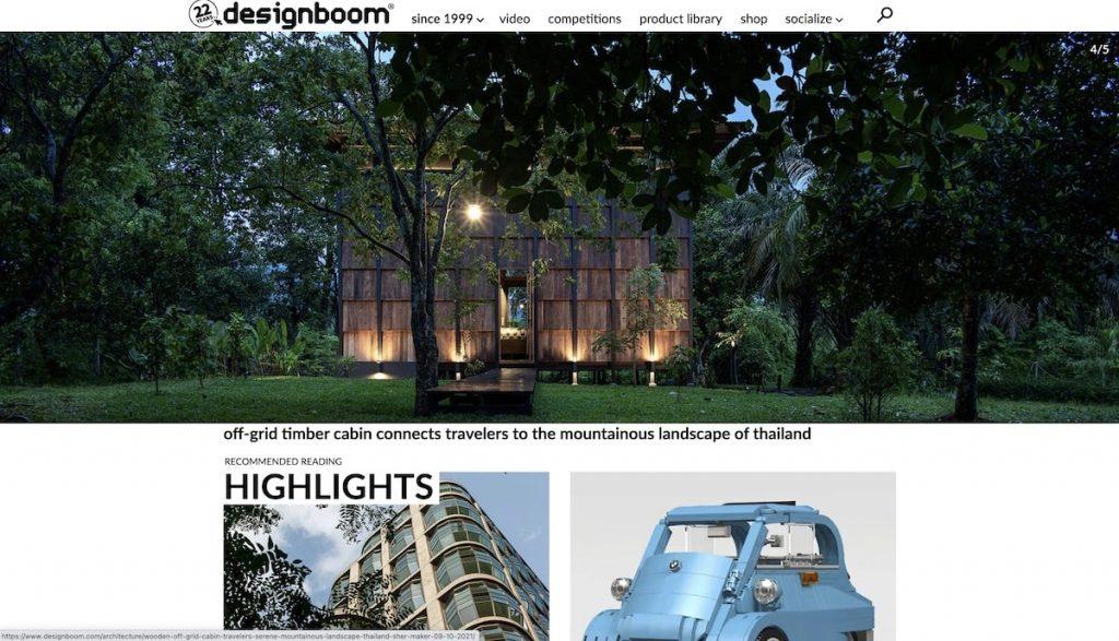 Captura de pantalla de la web Designboom