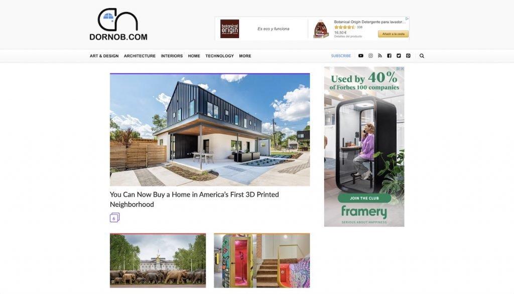 Captura de pantalla de la web Dornhob