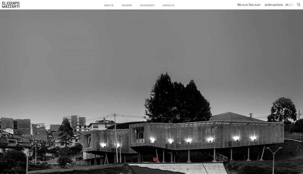 Captura de pantalla de la web El Equipo Mazzanti