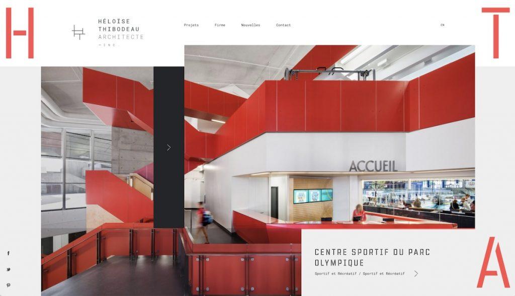 Captura de pantalla de la web Héloïse Thibodeau