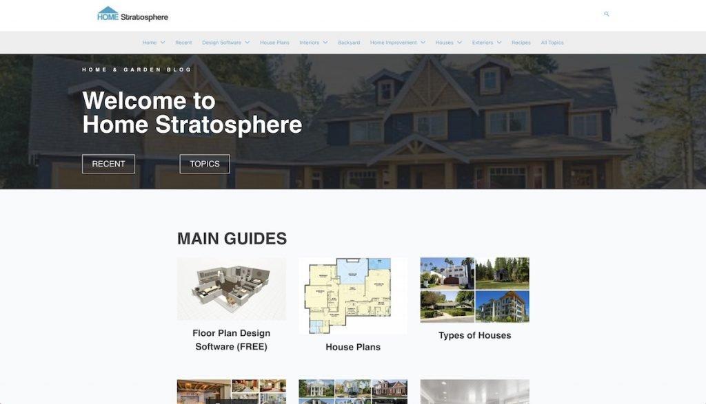 Captura de pantalla de la web Home Statosphere