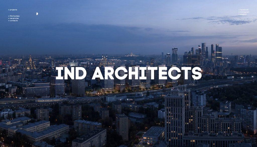 Captura de pantalla de la web Ind Architects