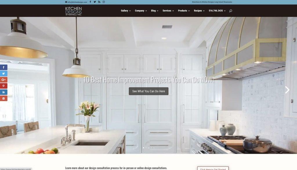 Captura de pantalla de la web Kitchen Designs
