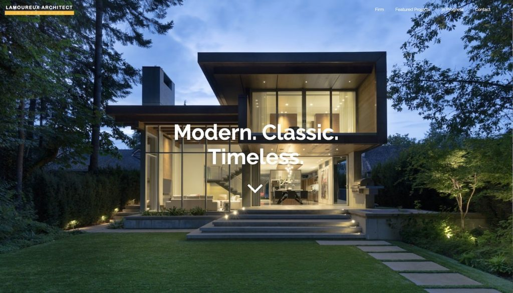 Captura de pantalla de la web Lamoreaux Architects