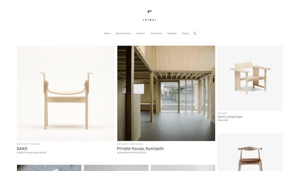 Captura de pantalla de la web Leibal