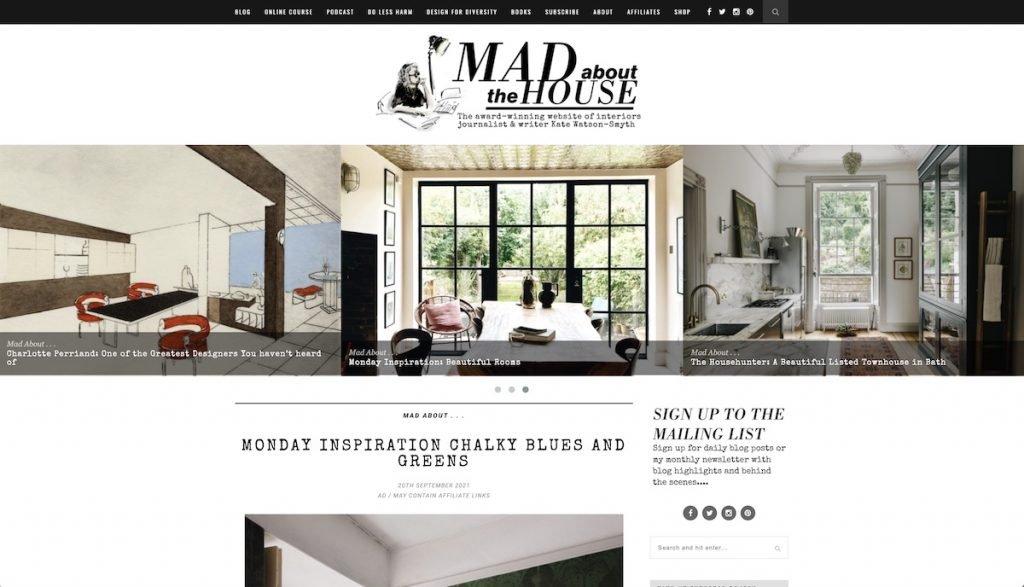 Captura de pantalla de la web Mad about the House