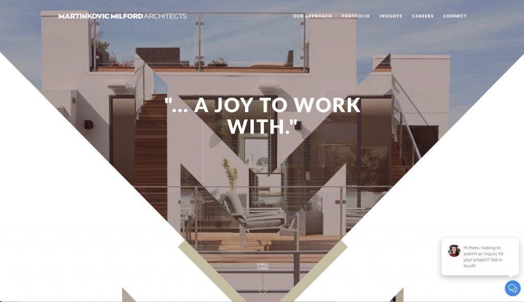 Captura de pantalla de la web Martikovic Milford Architects