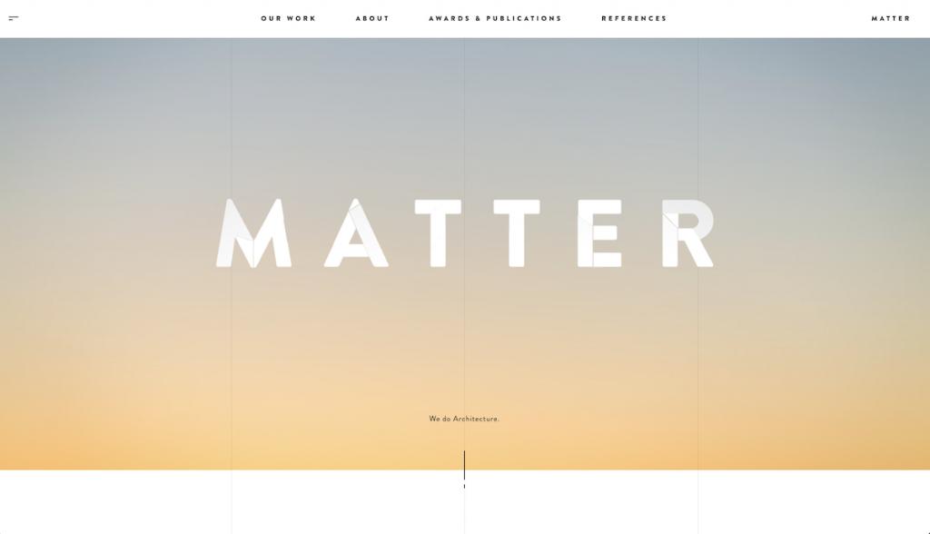 Caputra de pantalla de la web Matter