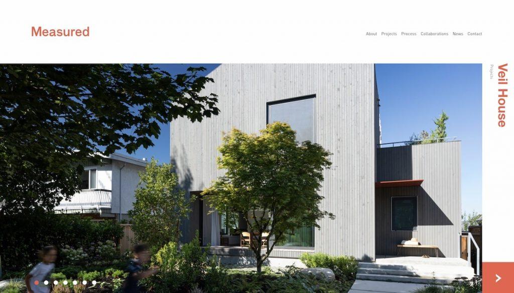 Captura de pantalla de la web Measured Architecture