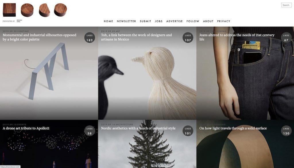 Captura de pantalla de la web Moco Loco