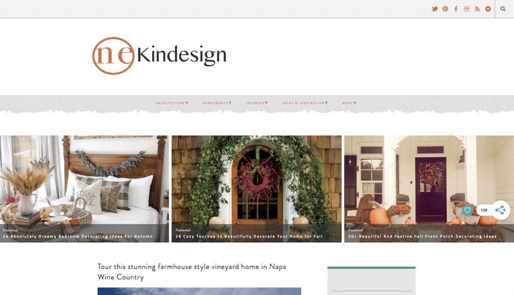 Captura de pantalla de la web One Kindesign