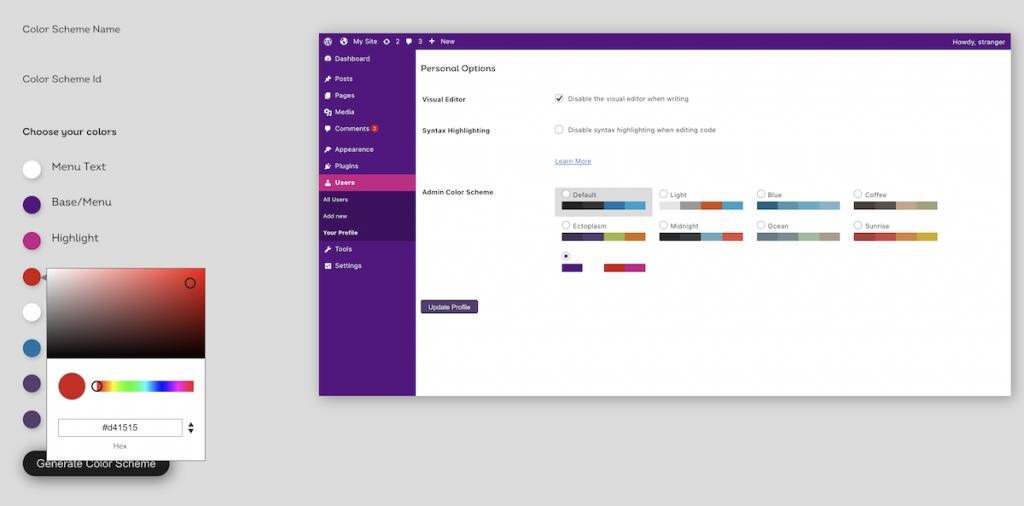 Nuevo esquema de colores personalizado