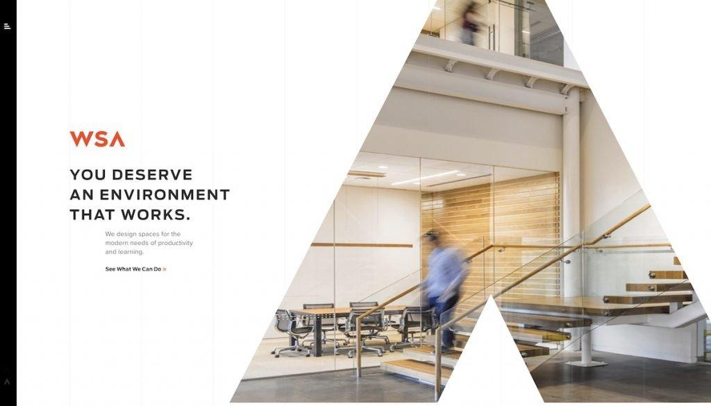 Captura de pantalla de la web WSA Studio