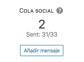 Detalle de la cola social de una entrada en la página de analíticas de Nelio Content.