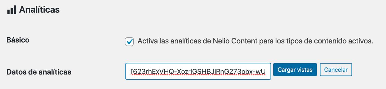Una vez tenemos el código de validación de Google, lo pegamos en el campo de texto y pulsamos el botón Cargar para seguir el proceso.