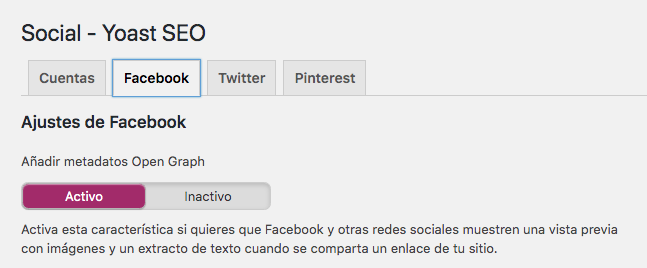 Social Yoast SEO Facebook