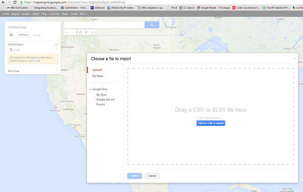 Google Maps in WordPress - File import