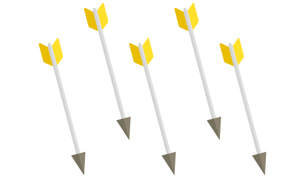 Arrows representing actions