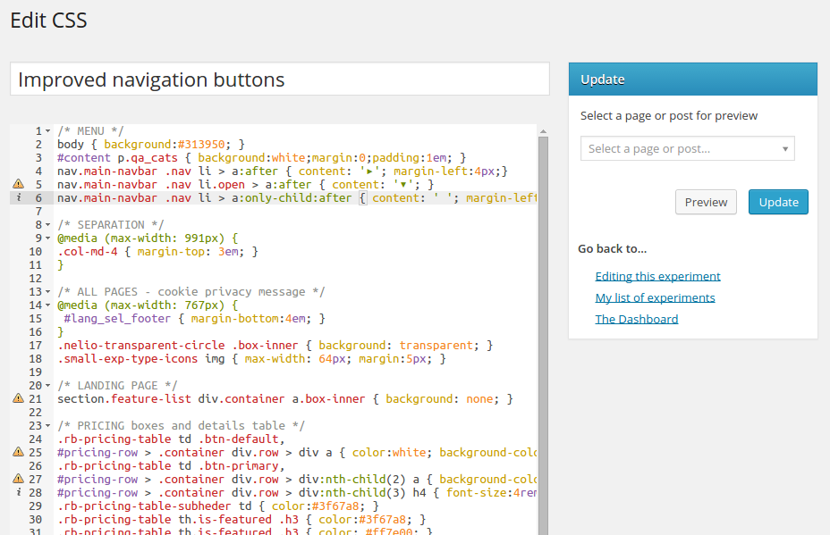 Improved CSS Editor