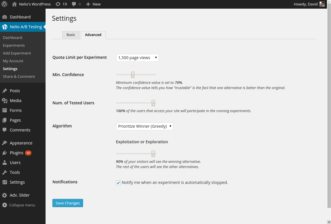 Advanced Settings for Advanced Useres