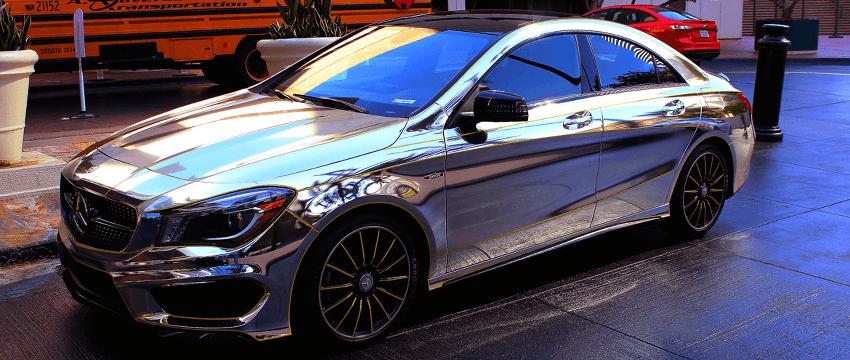 Chrome Mercedes Car