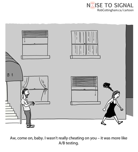 A/B testing your wife