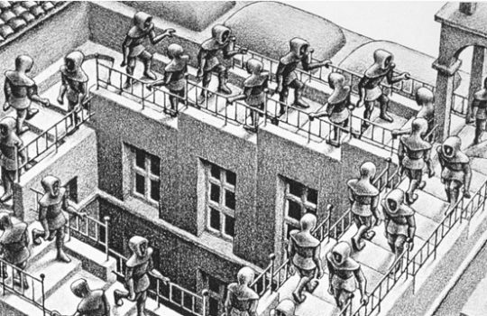 Ascending and descending by Escher