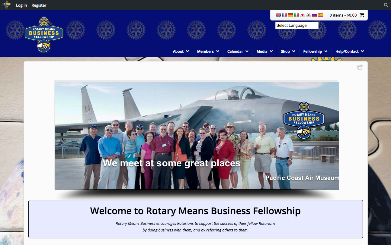 Rotary Means Business - Rotary Club website Screenshot