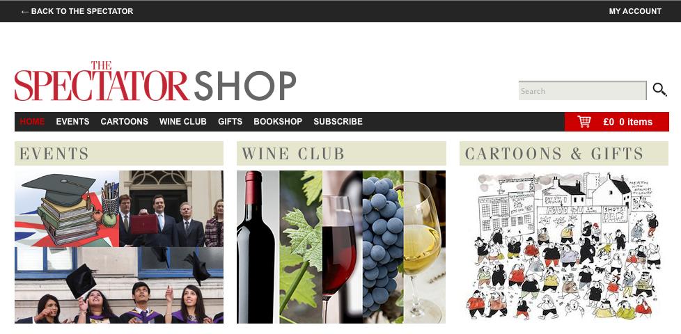 The Spectator Shop Website