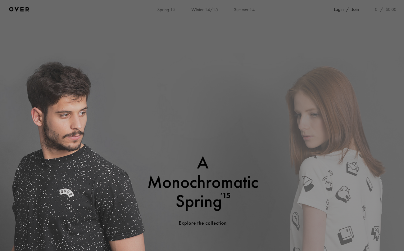 Over Clothing website