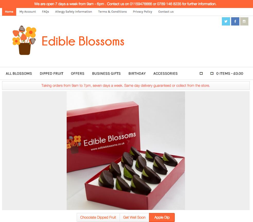 Edible Blossoms website