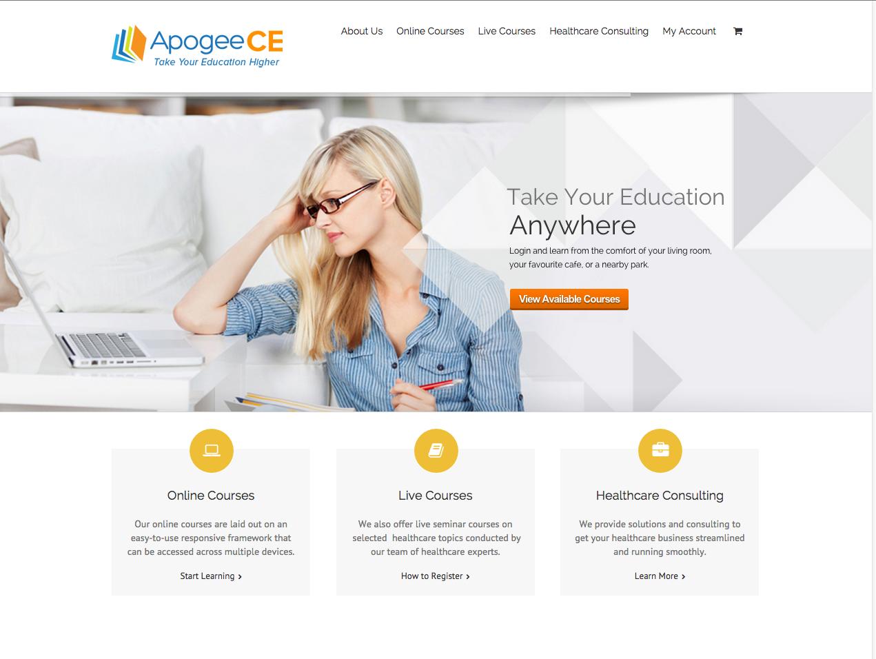 Apogee CE website