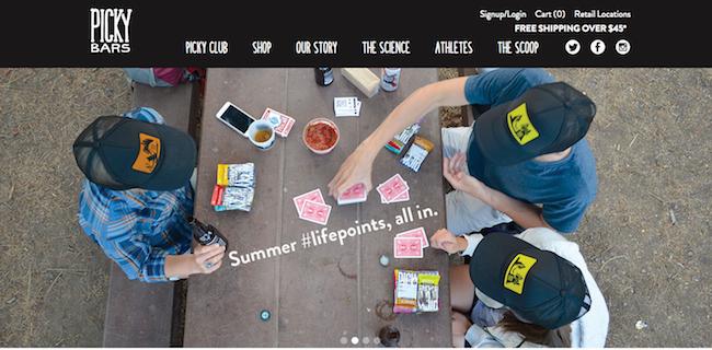 Picky Bars website
