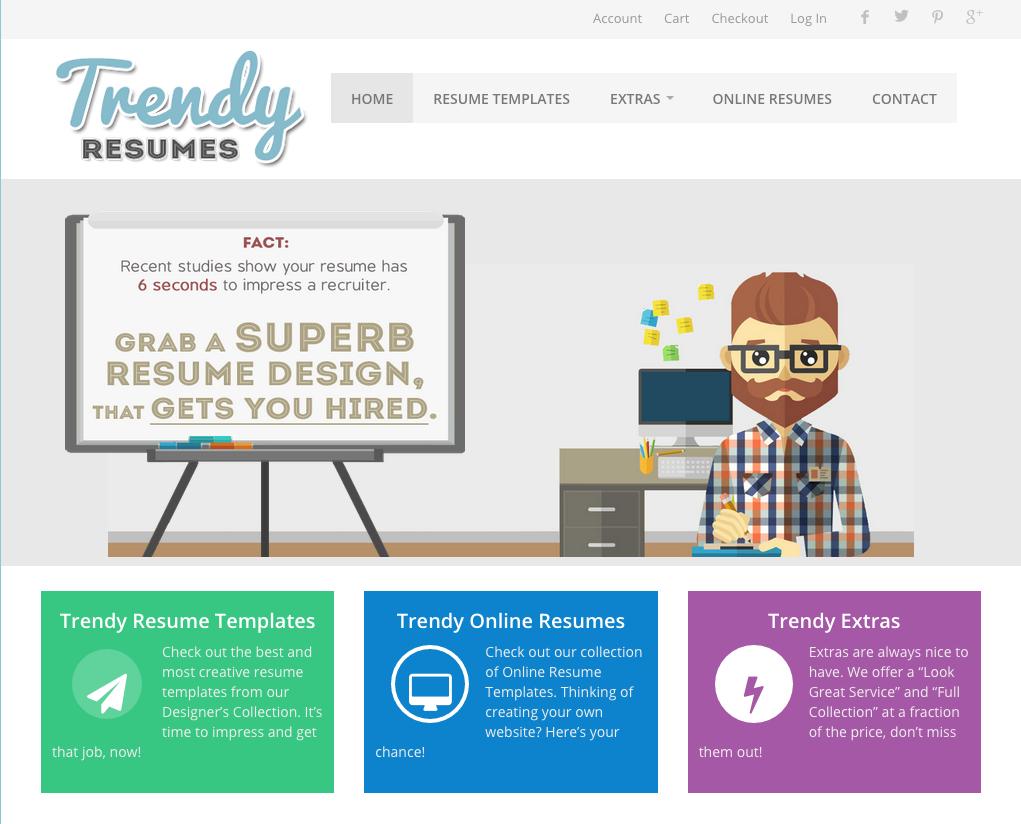 Trendy Resumes website